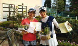 第1451回 緑ヶ丘テニスガーデン 女子ダブルス優勝:木村・増田ペア