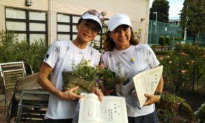 第1452回 緑ヶ丘テニスガーデン 女子ダブルス準優勝:深原・霜田ペア