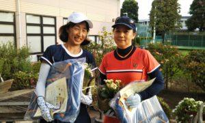 第1452回 緑ヶ丘テニスガーデン 女子ダブルス優勝:森村・長谷川ペア