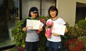 第1453回 緑ヶ丘テニスガーデン 女子ダブルス優勝:小見野・橘ペア