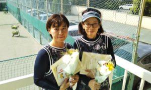 第1454回 関町ローンテニスクラブ 女子ダブルス準優勝:鈴木・山口ペア