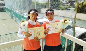 第1454回 関町ローンテニスクラブ 女子ダブルス優勝:高梨・古瀬ペア
