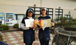 第1455回 緑ヶ丘テニスガーデン 女子ダブルス準優勝:黒田・秋葉ペア