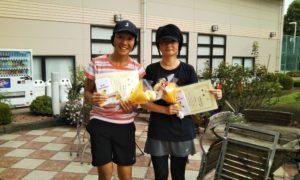 第1455回 緑ヶ丘テニスガーデン 女子ダブルス優勝:古山・宇津木ペア