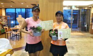 第1459回 緑ヶ丘テニスガーデン 女子ダブルス準優勝:田邉・西條ペア