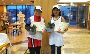 第1459回 緑ヶ丘テニスガーデン 女子ダブルス優勝:北條・菊地ペア