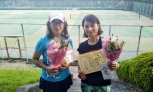 第1460回 百草テニスガーデン 女子ダブルス準優勝:桑野・横内ペア