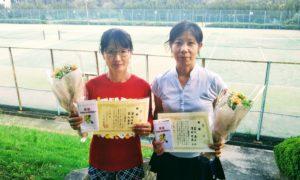 第1460回 百草テニスガーデン 女子ダブルス優勝:澤田・冨山ペア