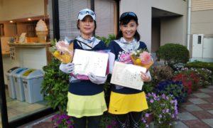 第1462回 緑ヶ丘テニスガーデン 女子ダブルス準優勝:植山・堀越ペア