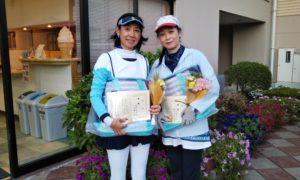 第1462回 緑ヶ丘テニスガーデン 女子ダブルス優勝:細見・小池ペア