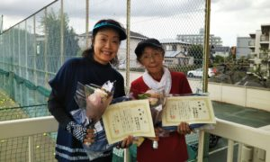 第1464回 関町ローンテニスクラブ 女子ダブルス準優勝:松田・古谷ペア