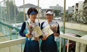 第1465回 関町ローンテニスクラブ 女子ダブルス準優勝:白石・関谷ペア
