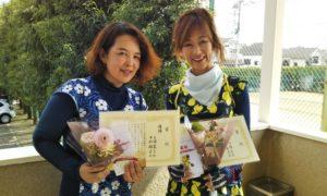 第1465回 関町ローンテニスクラブ 女子ダブルス優勝:手塚・中村ペア