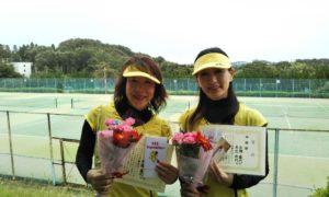 第1466回 百草テニスガーデン 女子ダブルス準優勝:左近・古橋ペア