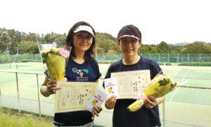 第1466回 百草テニスガーデン 女子ダブルス優勝:林・松本ペア