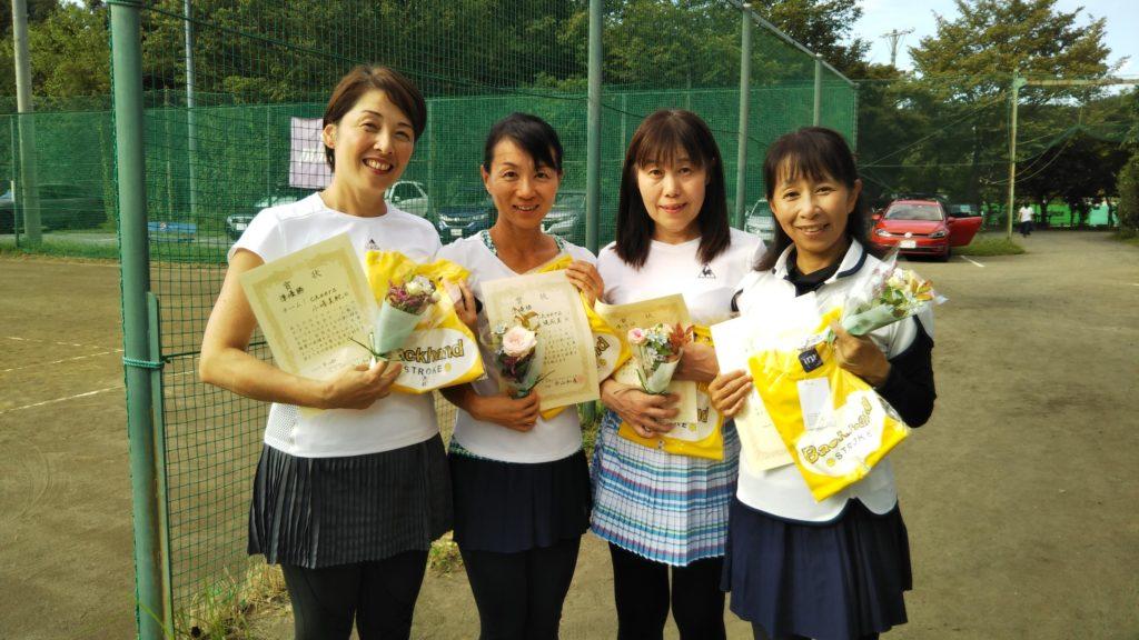 準優勝:小峰・長縄・西村・佐古チーム