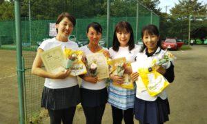 第1467回 桜田倶楽部 女子チーム戦準優勝:小峰・長縄・西村・佐古チーム
