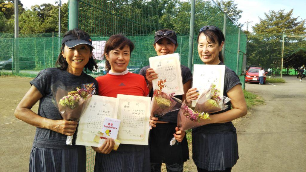優勝:藤井・河畑・大西・島田チーム