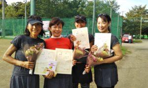 第1467回 桜田倶楽部 女子チーム戦優勝:藤井・河畑・大西・島田チーム