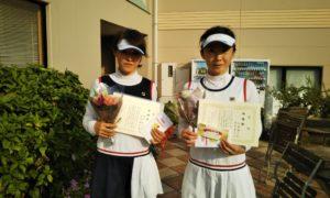 第1468回 緑ヶ丘テニスガーデン 女子ダブルス準優勝:長村・安部ペア