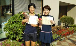 第1468回 緑ヶ丘テニスガーデン 女子ダブルス優勝:有馬・有馬ペア