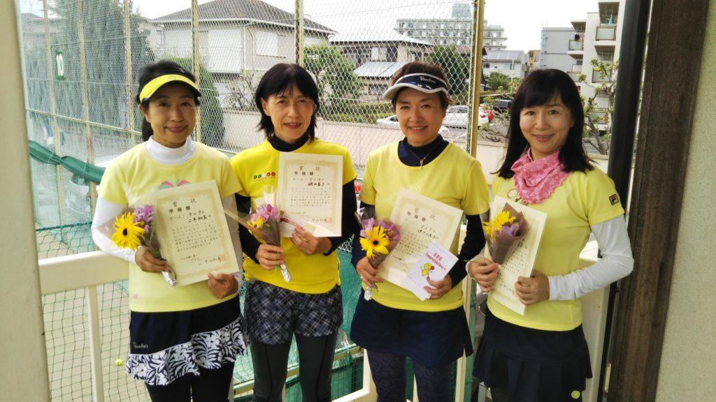 準優勝:二木・磯田・伊沢・浅井チーム