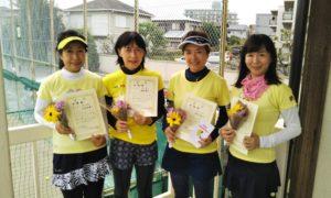 第1469回 関町ローンテニスクラブ 女子チーム戦準優勝:二木・磯田・伊沢・浅井チーム