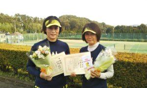 第1471回 百草テニスガーデン 女子ダブルス準優勝:千葉・田中ペア
