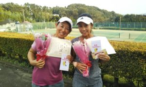 第1471回 百草テニスガーデン 女子ダブルス優勝:本多・伊藤ペア