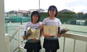 第1476回 関町ローンテニスクラブ 女子ダブルス準優勝:市川・石川ペア
