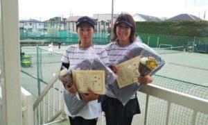 第1476回 関町ローンテニスクラブ 女子ダブルス優勝:高岡・望月ペア