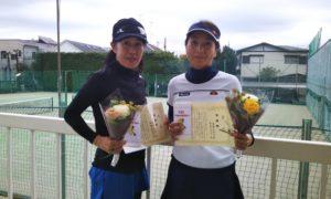 第1477回 関町ローンテニスクラブ 女子ダブルス準優勝:西村・高野ペア