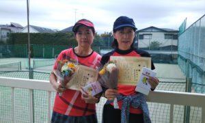 第1477回 関町ローンテニスクラブ 女子ダブルス優勝:伊沢・磯田ペア