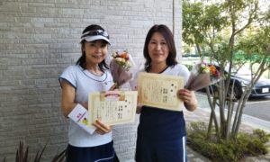 第1481回 東京グリーンテニスクラブ 女子ダブルス優勝:若林・三浦ペア