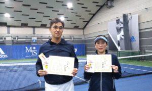 第229回 MTSテニスアリーナ三鷹 ナイターミックスダブルス準優勝:阿部・古瀬ペア