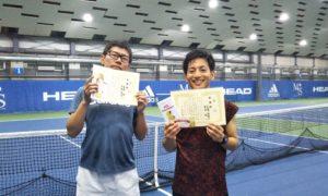 第230回 MTSテニスアリーナ三鷹 ナイター男子ダブルス準優勝:室井・武樋ペア