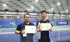 第230回 MTSテニスアリーナ三鷹 ナイター男子ダブルス優勝:泉山・沖守ペア
