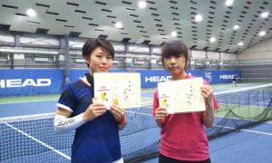 第231回 MTSテニスアリーナ三鷹 ナイター女子ダブルス準優勝:前川・三重野ペア