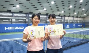 第231回 MTSテニスアリーナ三鷹 ナイター女子ダブルス優勝:丹野・田中ペア