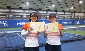 第232回 MTSテニスアリーナ三鷹 ナイター女子ダブルス準優勝:高梨・古瀬ペア