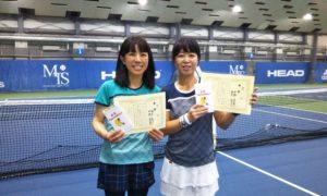 第232回 MTSテニスアリーナ三鷹 ナイター女子ダブルス優勝:鈴木・中野ペア