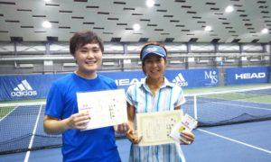 第233回 MTSテニスアリーナ三鷹 ナイターミックスダブルス優勝:大内・高橋ペア