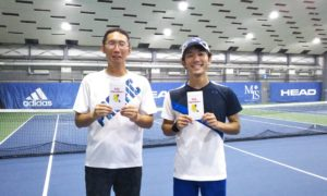 第234回 MTSテニスアリーナ三鷹 ナイター男子ダブルス準優勝:小見野・河合ペア