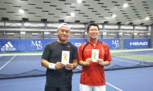 第234回 MTSテニスアリーナ三鷹 ナイター男子ダブルス優勝:石松・石倉ペア