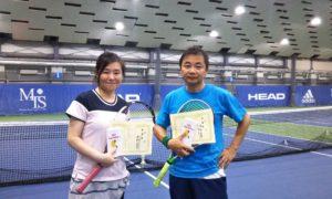 第235回 MTSテニスアリーナ三鷹 ナイターミックスダブルス準優勝:中島・澤部ペア