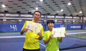 第235回 MTSテニスアリーナ三鷹 ナイターミックスダブルス優勝:小見野・中野ペア
