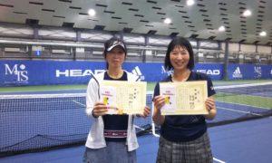 第237回 MTSテニスアリーナ三鷹 ナイター女子ダブルス準優勝:佐々木・宮﨑ペア