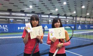 第237回 MTSテニスアリーナ三鷹 ナイター女子ダブルス優勝:三重野・竹田ペア