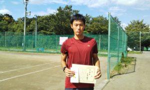 第3回 桜田倶楽部 男子シングルス準優勝:黒澤選手