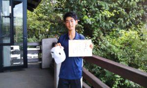 第33回 富士見台テニスクラブ 中学生男子準優勝:石黒 佑一選手